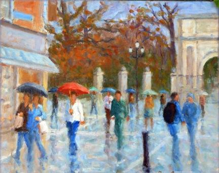 Grafton St  rain